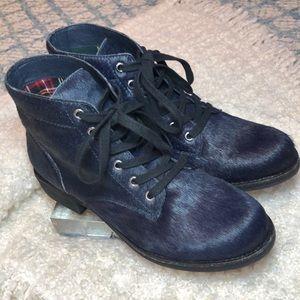 Sam Edelman Shoes - Sam Edelman Bleecker Ink Navy Calf Hair Boot